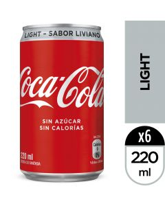 Bebida Lata Coca-Cola Light 220 ML