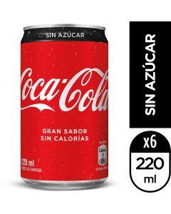 Bebida Lata Coca-Cola Sin Azúcar 220 ML
