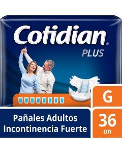 Pañales Adulto Unisex Incontinencia Fuerte Plus Grande 36 UND