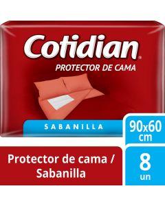 Protector de Cama Sabanilla Tamaño Único 90 x 60 CM 8 UND