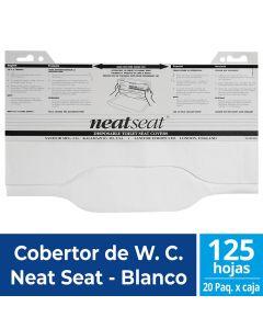 Cobertor de WC Neat Seat Blanco 125 HJS x 20 Pqtes