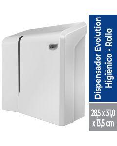Dispensador Papel Higiénico Alto Metraje Dynamic Plástico / Blanco