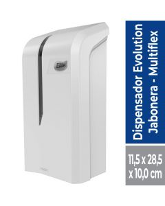 Dispensador Jabón Sachet Elite Multiflex Plástico / Blanco