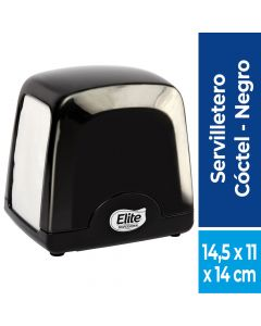 Dispensador Servilleta Coctel Plástico / Negro