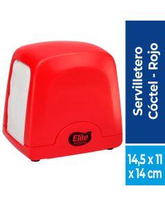 Dispensador Servilleta Coctel Plástico / Rojo