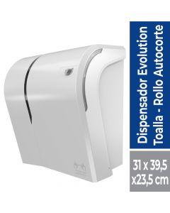 Dispensador Toalla de Papel Corte Automático Plástico / Blanco