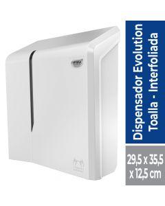 Dispensador Toalla Interfoliada Evolution Plástico / Blanco