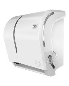 Dispensador Toalla de Papel Corte Manual C/ Palanca Plástico / Blanco