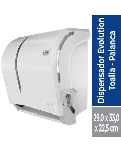 Dispensador Toalla de Papel Corte Manual con Palanca Plástico / Blanco