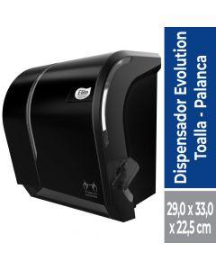 Dispensador Toalla de Papel Corte Manual con Palanca Plástico / Negro