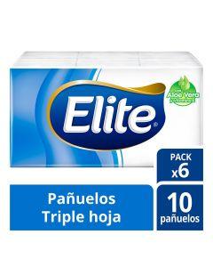 Pañuelos Desechables H/T Aloe Vera 10 HJS x 6 Pqtes