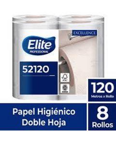 Papel Higiénico Bajo Metraje H/D Extra Blanco Excellence 120 MT x 8 Rollos