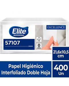 Papel Higiénico Interfoliado H/D Extra Blanco Excellence 400 HJS x 18 Pqtes