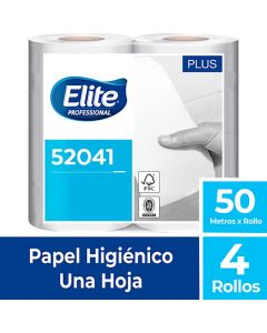 Papel Higiénico Bajo Metraje H/S Blanco Plus 50 MT x 4 Rollos