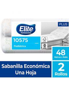 Sabanilla H/S Blanca Pediátrica Plus 48 MT x 2 Rollos