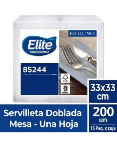 Servilleta Mesa H/S Extra Blanca Excellence 33 x 33 CM 200 HJS x 1 Pqte