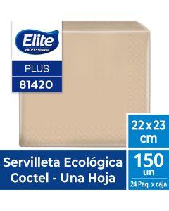 Servilleta Mesa H/S Ecológica Plus 23 x 22 CM 150 HJS x 1 Pqtes