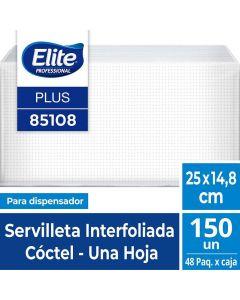 Servilleta Dispensador H/S Blanca Plus 25 x 14,8 CM 150 HJS x 48 Pqtes