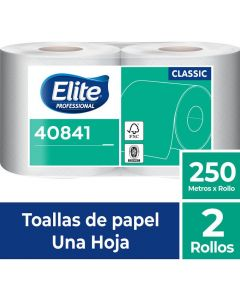 Toalla de Papel Alto Metraje H/S Económica Classic 250 MT x 2 Rollos