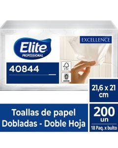Toalla de Papel Interfoliada H/D Extra Blanca Excellence 200 HJS x 18 Pqtes