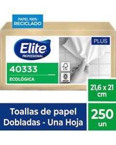 Toalla de Papel Interfoliada H/S Ecológica Plus 250 HJS x 18 Pqtes