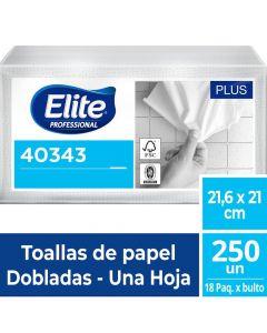 Toalla de Papel Interfoliada H/S Blanca Plus 250 HJS x 18 Pqtes