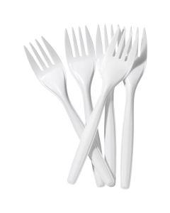 Tenedores Plásticos Desechables Blancas 100 UND