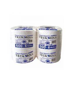 Papel Higiénico Alto Metraje H/S  500 MT x 6 Rollos