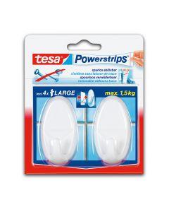 Ganchos Adhesivos Powerstrips Blancos Grandes 1,5KG Máx 2 UND