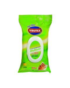 Paño Toalla Desinfectante Aroma Limón 50 UND